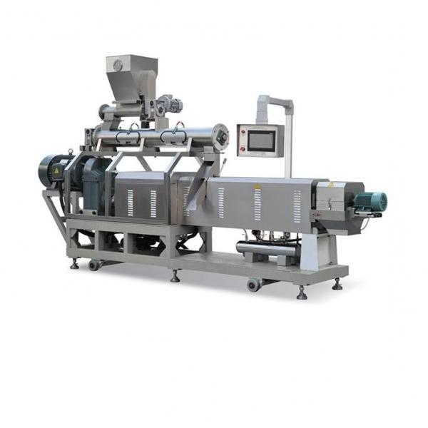 Double Screw Fried Puff Ball Crispy Bugle Chip Core Filled Maize Flour Small Corn Puff Food Snack Extruder Machine #1 image